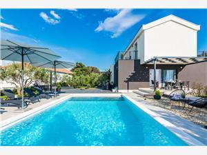 Vila Rossa Zdrelac - ostrov Pasman, Prostor 180,00 m2, Soukromé ubytování s bazénem, Vzdušní vzdálenost od moře 5 m