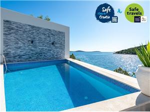 Villa Sine Dalmatien, Größe 140,00 m2, Privatunterkunft mit Pool, Luftlinie bis zum Meer 30 m