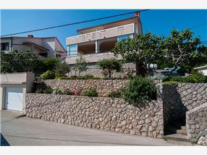 Appartement et Chambres Jasminka Vrbnik - île de Krk, Superficie 18,00 m2, Distance (vol d'oiseau) jusqu'au centre ville 250 m