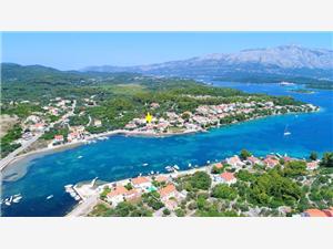 Apartman Doma Lumbarda - otok Korčula, Kvadratura 70,00 m2, Zračna udaljenost od mora 50 m