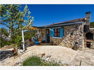 Huis Jonathan Nevidane - eiland Pasman, Stenen huize, Kwadratuur 28,00 m2, Lucht afstand tot de zee 100 m
