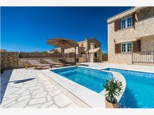 Vila StVid4 Riviéra Zadar, Kamenný dům, Prostor 150,00 m2, Soukromé ubytování s bazénem