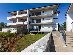 Apartmaji Doris Malinska - otok Krk, Kvadratura 74,00 m2, Oddaljenost od morja 100 m
