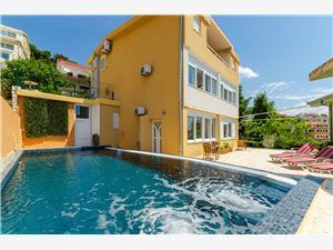 Apartmanok Ana Okrug Gornji (Ciovo), Méret 55,00 m2, Szállás medencével, Légvonalbeli távolság 20 m