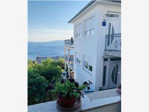 Ferienwohnungen Marija Riviera von Rijeka und Crikvenica, Größe 90,00 m2, Luftlinie bis zum Meer 250 m, Entfernung vom Ortszentrum (Luftlinie) 700 m