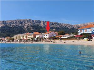Ferienwohnungen Anđelka Die Inseln der Kvarner, Größe 30,00 m2, Luftlinie bis zum Meer 10 m, Entfernung vom Ortszentrum (Luftlinie) 50 m