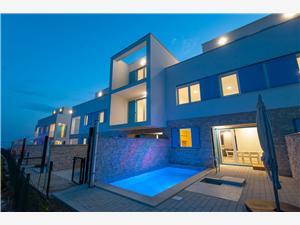 Vila Orchid Privlaka (Zadar), Rozloha 142,72 m2, Ubytovanie sbazénom, Vzdušná vzdialenosť od mora 10 m
